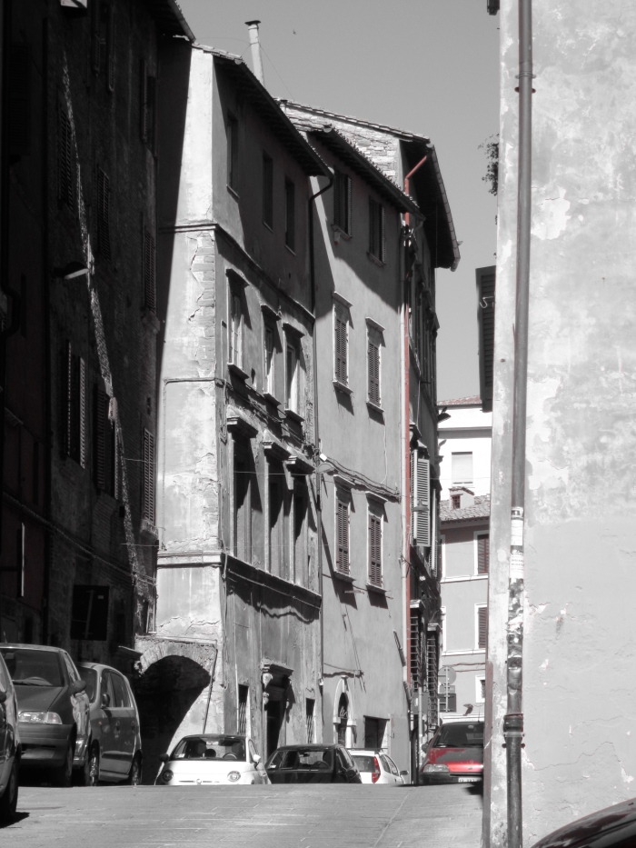 Street in the rise Perugia