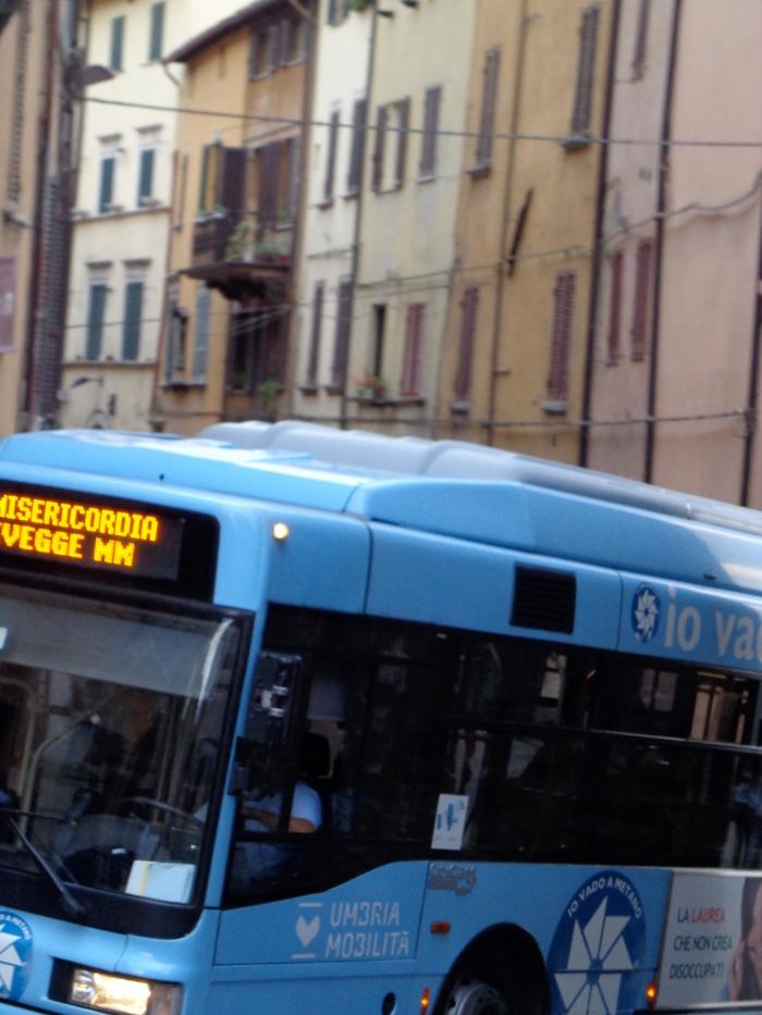 Blue autobus Porta Pesa