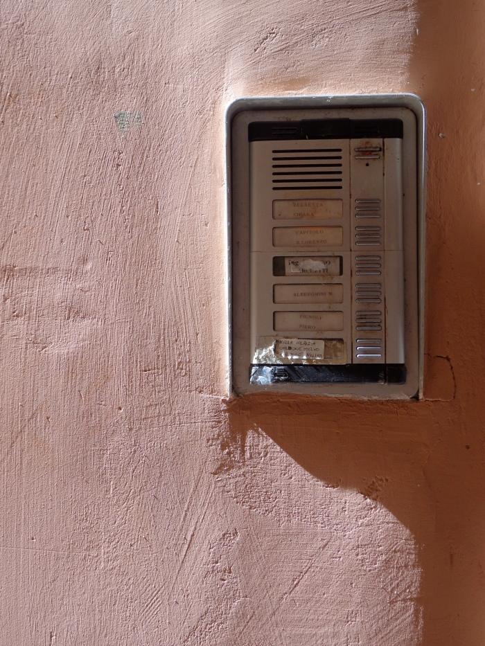 Pink wall doorbells