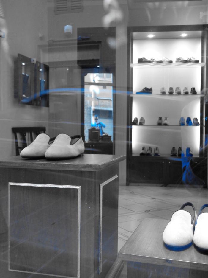 Shop window scarpe PG