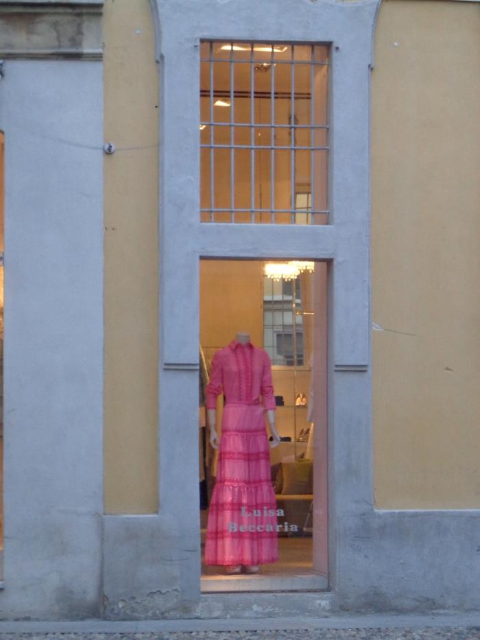 pink dressed window