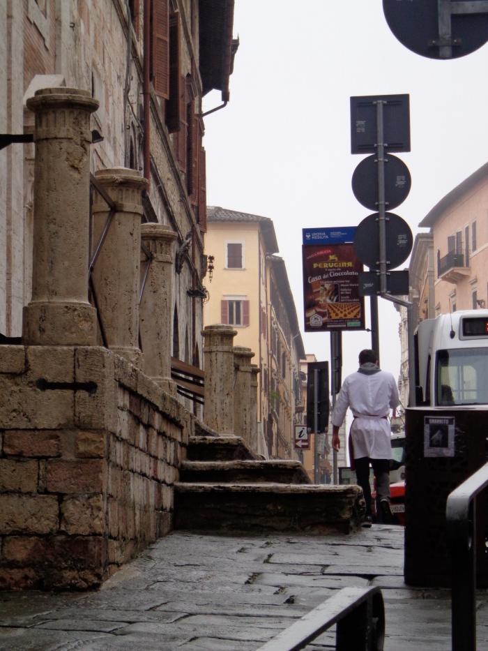 Piazza Matteotti white apron man
